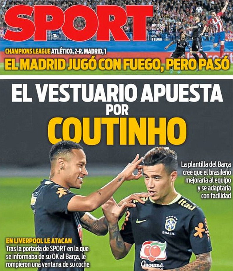 0ff1a2d059b Neymar and Suarez want Coutinho at Barcelona - Liverpool .