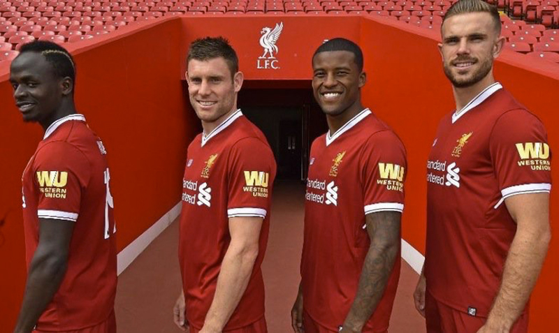 Liverpool announce deal to make Western Union first shirt sleeve sponsors